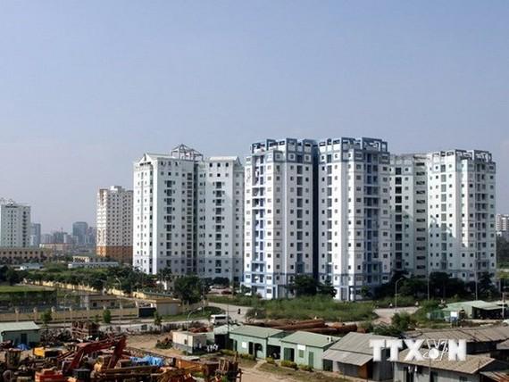 Một góc khu đô thị Nam Trung Yên, Hà Nội. (Ảnh: Tuấn Anh/TTXVN)