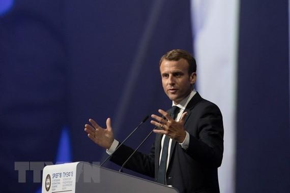 Tổng thống Pháp Emmanuel Macron. (Nguồn: THX/TTXVN)