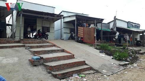 Khu đất cuối đường D10 phường 11, TP Vũng Tàu người dân lấn chiếm xây nhà trái phép.