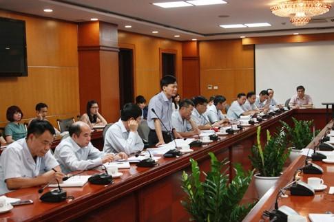 Ông Bùi Ngọc Lam, phó tổng Thanh tra Chính phủ, phát biểu tại buổi công bố quyết định thanh tra - Ảnh: TTCP