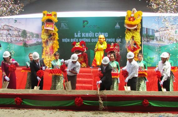 Quang cảnh lễ khởi công Viện điều dưỡng quốc tế Phúc An.