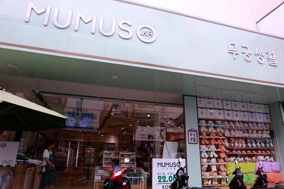 Sản phẩm trong cửa hàng Mumuso được sản xuất tại Trung Quốc