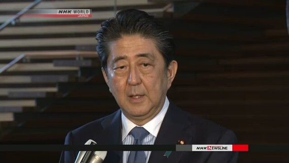 Thủ tướng Shinzo Abe hủy công du nước ngoài để đối phó thiên tai