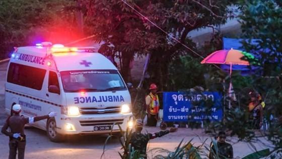 Khu vực giải cứu các thành viên đội bóng ở Chieng Rai, Thái Lan. Ảnh: CNN