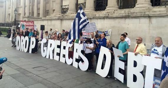 Người dân Hy Lạp biểu tình yêu cầu quốc tế xóa nợ cho nước này