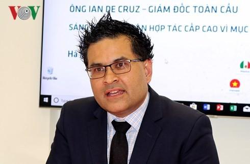 Ông Ian de Cruz, Giám đốc Toàn cầu của P4G. Ảnh: Hồng Quang.