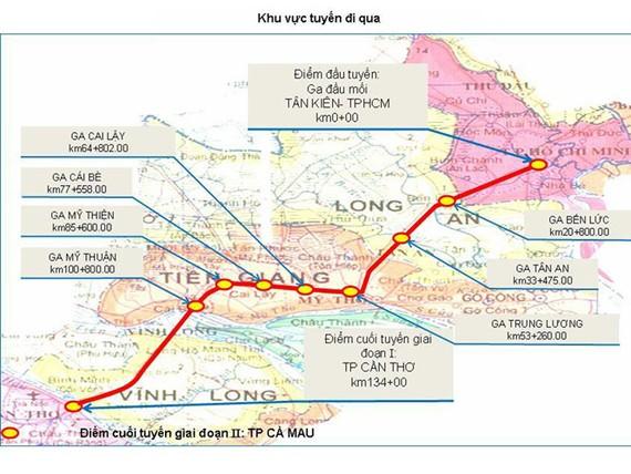 Đổi hướng đường sắt cao tốc TPHCM - Cần Thơ giảm 17.000 tỉ đồng