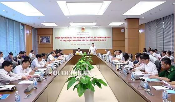 Phiên họp của Hội đồng Dân tộc. Ảnh: quochoi.vn