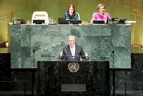Tổng thư ký LHQ Antonio Guterres phát biểu khai mạc phiên họp cấp cao ĐHĐ LHQ