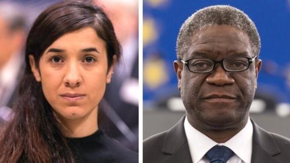 Giải Nobel hòa bình được trao cho 2 nhà vận động chống bạo lực tình dục