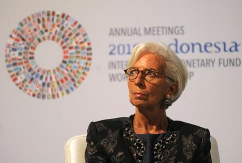 Bà Christine Lagarde, Tổng giám đốc IMF (Ảnh: AFP)