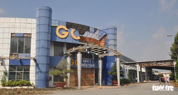 Cửa hàng miễn thuế ở Khu kinh tế cửa khẩu Mộc Bài đã ngừng hoạt động, xuống cấp  - Ảnh: N.H.