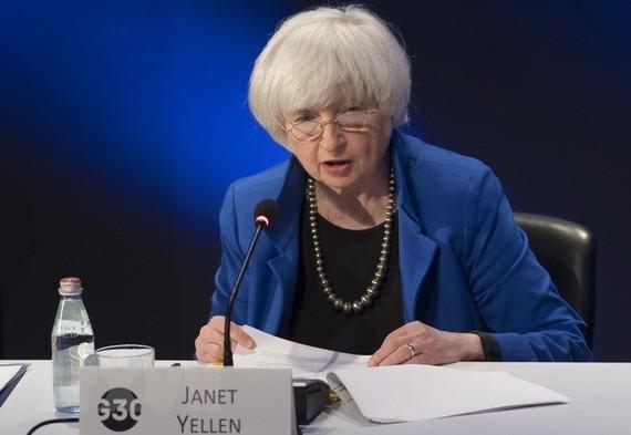Cựu Chủ tịch Fed Janet Yellen. (Nguồn: AFP/TTXVN)