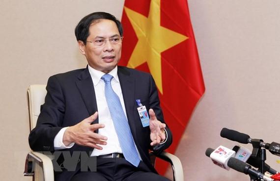 Thứ trưởng thường trực Bộ Ngoại giao Bùi Thanh Sơn. (Ảnh: Lâm Khánh/TTXVN)