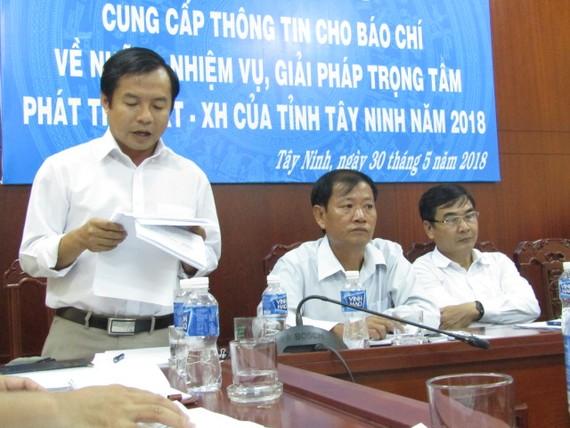 Lãnh đạo Sở VH-TT-DL tỉnh Tây Ninh thông tin về tình hình phát triển ngành