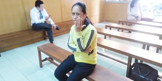 Bị cáo Hồ Thị Cẩm Loan tại phiên tòa