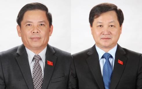 Tân Bộ trưởng Bộ GTVT Nguyễn Văn Thể và Tổng Thanh tra Chính phủ Lê Minh Khái. Ảnh: VGP