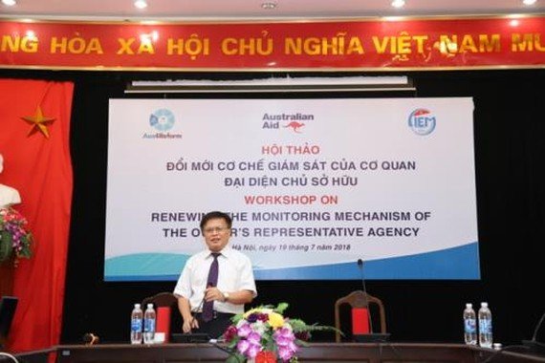 Viện trưởng CIEM, TS Nguyễn Đình Cung phát biểu tại hội thảo