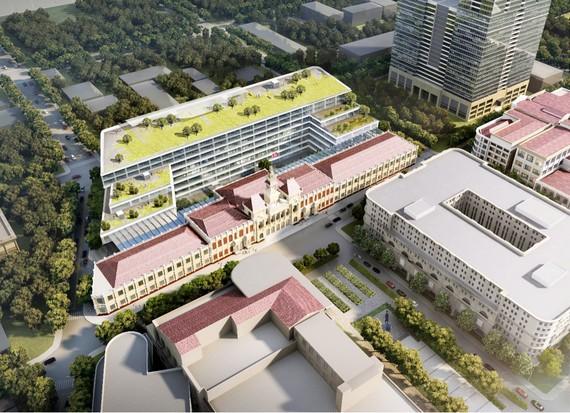 Phối cảnh công trình mở rộng trụ sở HĐND và UBND TPHCM