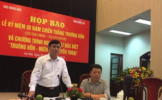 Cuộc họp báo do UBND tỉnh Nghệ An phối hợp với báo Nhân Dân tổ chức
