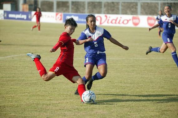 越南U16隊在比賽中。
