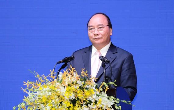 阮春福總理在會上發言