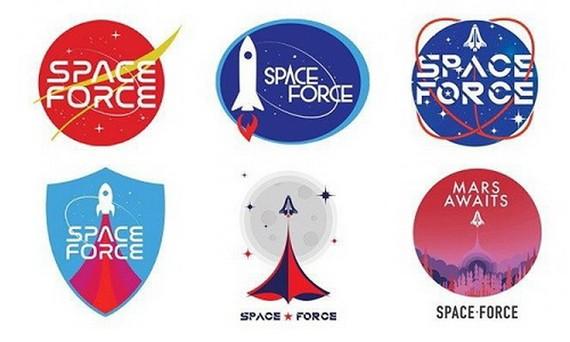 """特朗普競選團隊提供的6個Logo均包含""""太空軍""""字樣。"""