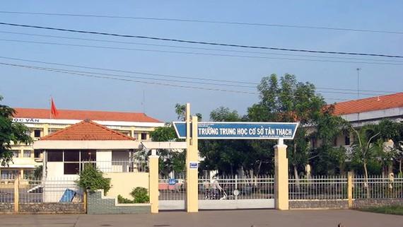 Trường THCS Tân Thạch, huyện Châu Thành, tỉnh Bến Tre nơi xảy ra vụ việc
