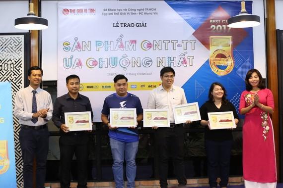 Các doanh nghiệp CNTT-TT nhận giải Best Cup 2017