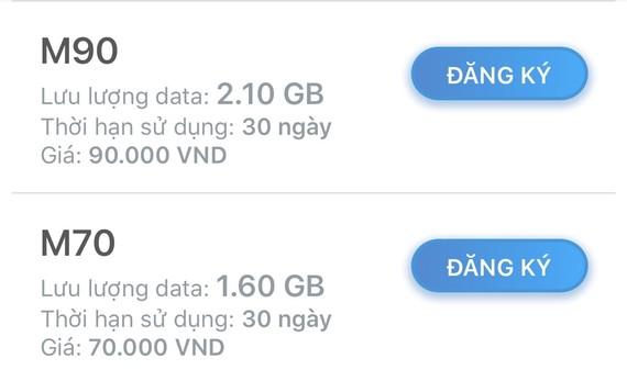 Hai trong nhiều gói Data của MobiFone