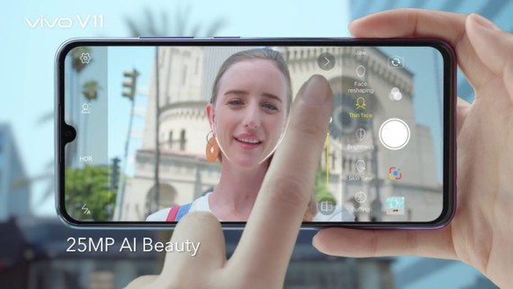 Màn hình của điện thoại  Vivo  thoả mãn nhu cầu người dùng