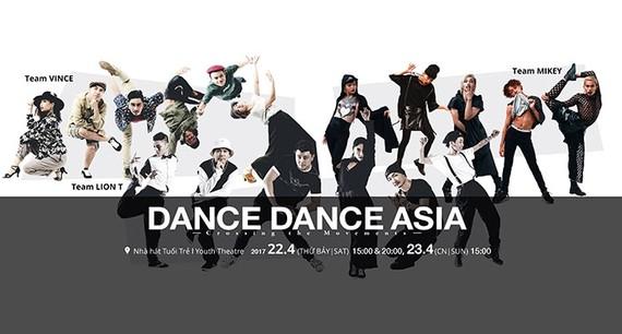 Asian street dance performance in Hanoi