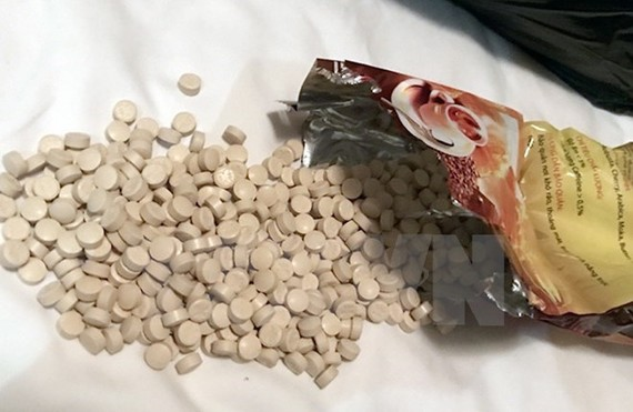The seized MDMA pills (Photo: VNA)