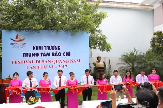 Media centers of the 6th Quang Nam Heritage Festival has been launched on June 7.  (Photo: Sggp)