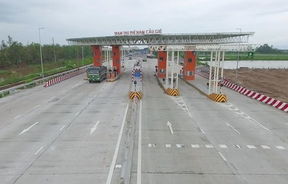 Nam Cau Gie toll collection area as part of the No 1 national highway BOT project (Photo: FECON)