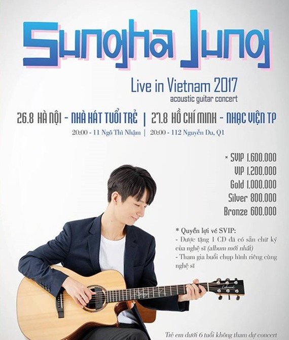Korean guitarist Sungha Jung to perform in Vietnam