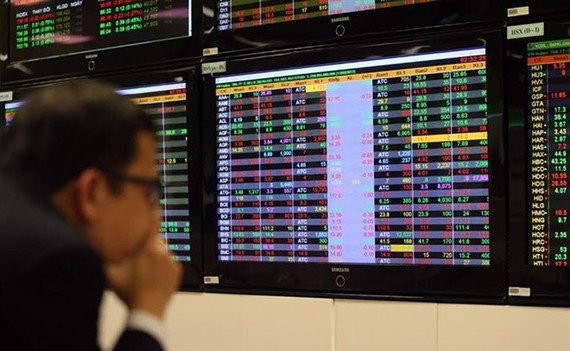 An investor at Vietcombank Securities Company. (Photo: VNA)