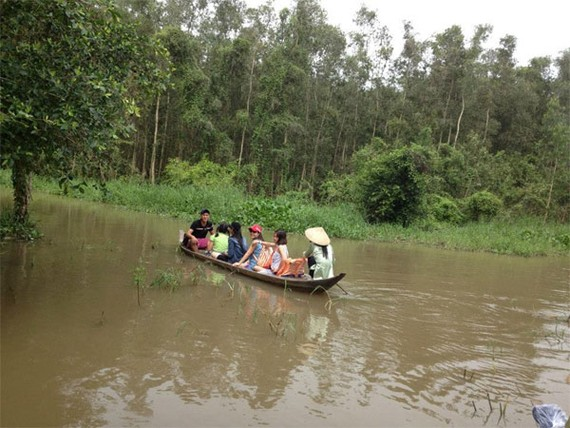 Gao Giong ecological tourist area in Dong Thap Province (Photo: KK)