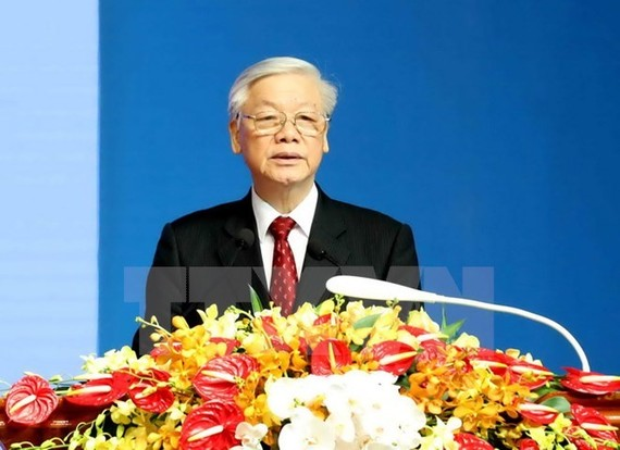 Party General Secretary Nguyen Phu Trong addresses the ceremony (Photo: VNA)