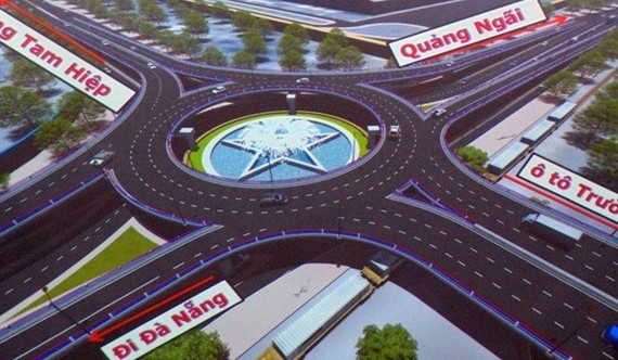 A mock-up of the railway flyover bridge to be built in Nui Thanh district, Quang Nam province (Photo: VNA)