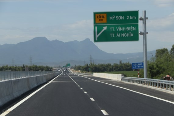 The distance of 65km of Da Nang-Quang Ngai Expressway is opened for the public on August 2.