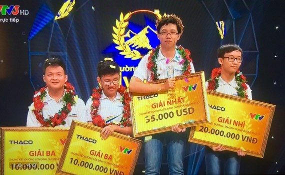 Quang Tri's boy wins Olympia competition 2017