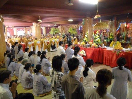 Vu Lan' Buddhist festival in Suoi Tien Cultural Park (Photo: sggp)
