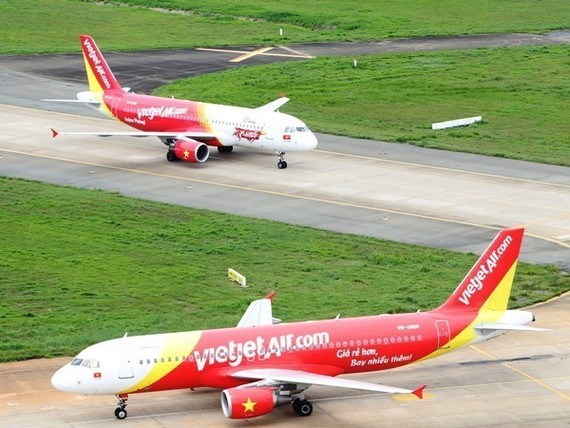 Vietjet Aviation Joint Stock Company came 12th on the Vietnamese edition of Forbes Magazine's top 50 listed Vietnamese companies in 2​017.(Photo: Vietjet Air)