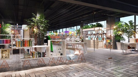 "A 3,000sq.m ""book city"" that will provide one million books and thousands of stationery products will open at the Garden Mall in HCM City's District 5 next month​ (Photo pnc.com.vn)"