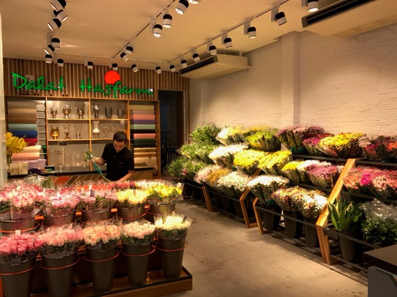 A corner of Dalat Hasfarm shop in HCM City. (dalathasfarm.com.vn)