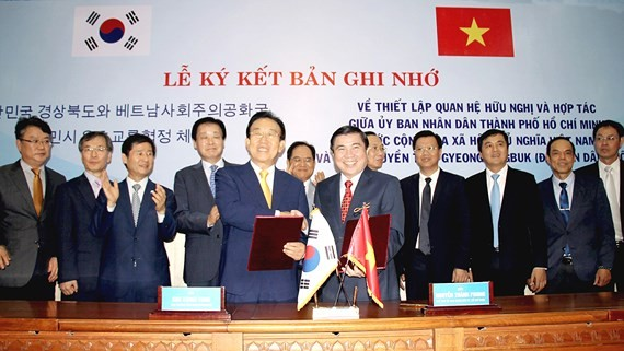 HCM City, Gyeongsangbuk-do Province sign a MoU on cooperative relations