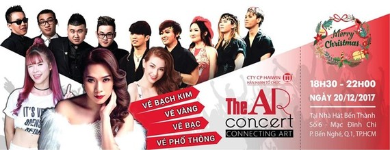 Concert combining music with technologies in HCM City's Ben Thanh Theater