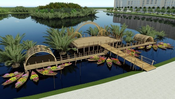 "The design for ""Spring Wharf"" area"