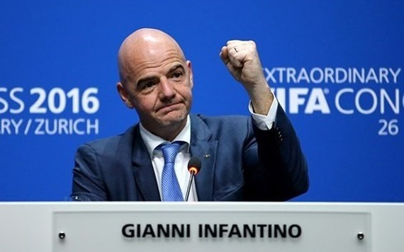 Gianni Infantino, president of the world football governing body FIFA will visit Vietnam on February 8 (Photo: AFP)